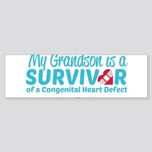 CHD Survivor - Grandson Bumper Sticker